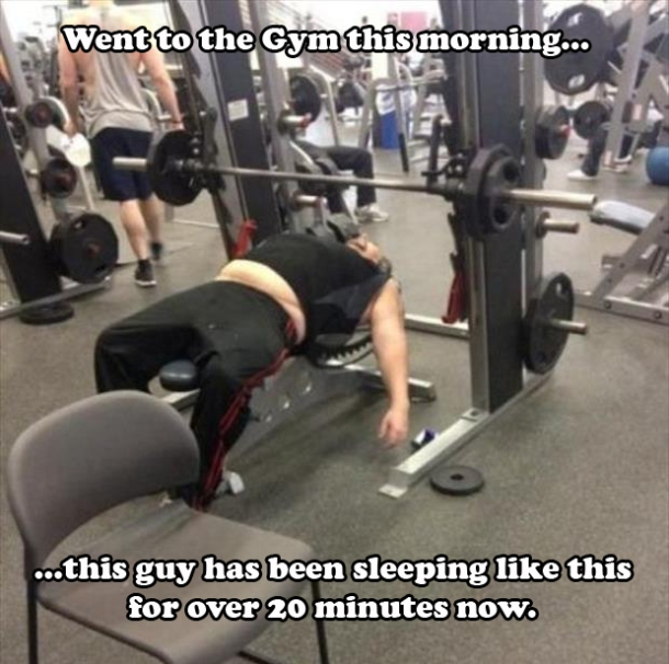 Humpday Humor (for the sleepy muscle heads)